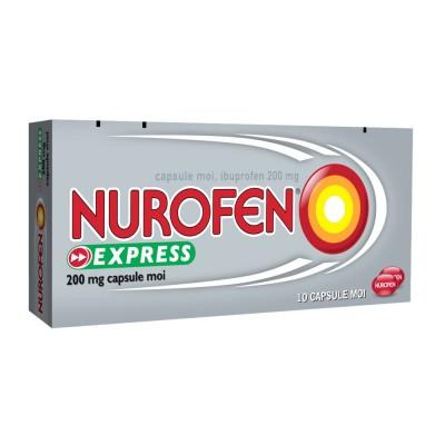 Nurofen Express 200 mg -cps.moi x 10 - Reckit