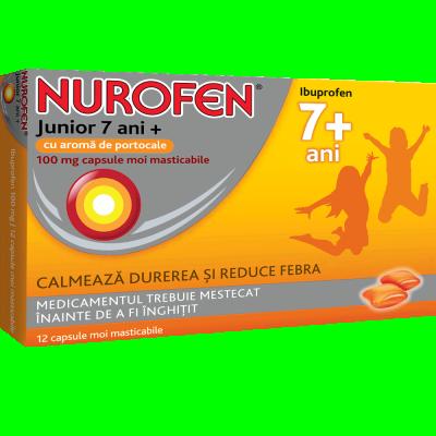 Nurofen Junior 7ani - cpr. mast. x 12 - Reckitt