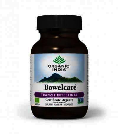 Organic India Bowelcare, Tranzit Intestinal, Combate Balonarea, 60 cps.