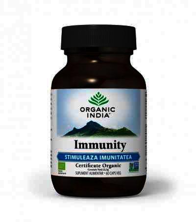 Organic India Immunity, Imunomodulator Natural, 60 cps.