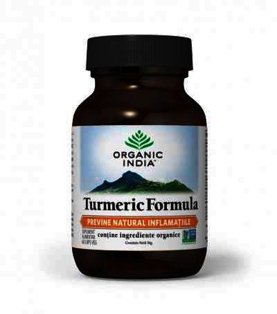 Organic India Turmeric Formula, Antiinflamator Natural, 60 cps.