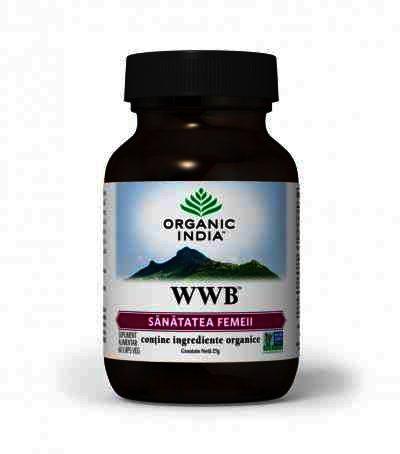 Organic India WWB, Sanatatea Femeii, Sindrom Premenstrual, 60 cps.