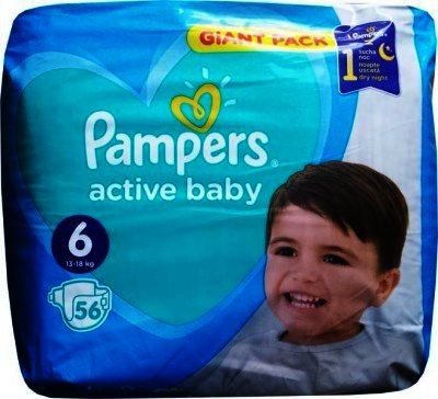 Pampers 6 Active Baby 15 kg+ x 56