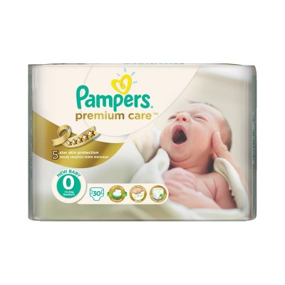 Pampers Nr. 0 Premium Care New Baby Scutece x 30