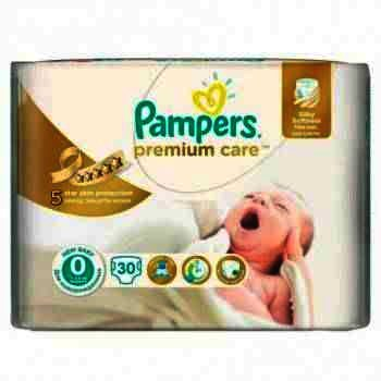 Pampers nr 0 Premium Care New Baby x 33