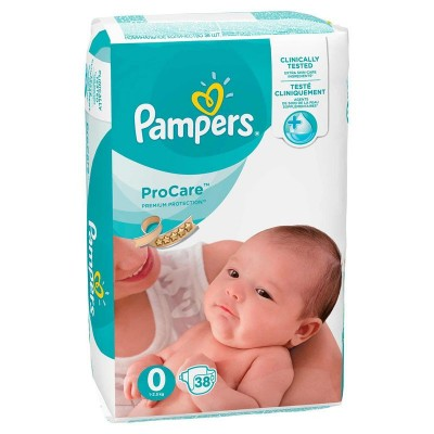Pampers nr 0 Pro Care 1-2.5 kg x 38