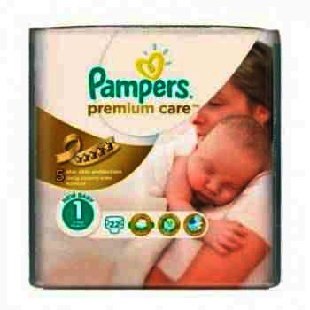 Pampers nr 1 New Born Premium Care 2-5 kg x 22