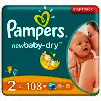 Pampers nr 2 New Baby 3-6 kg x 108