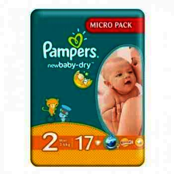 Pampers nr 2 New Baby 3-6 kg x 17