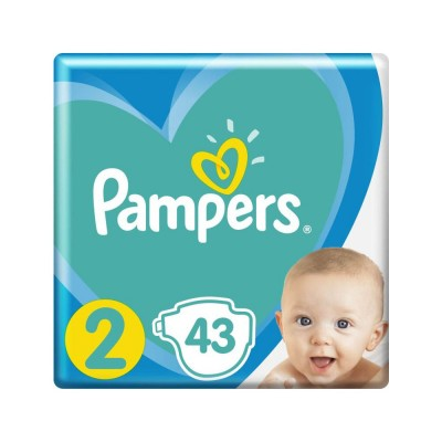 Pampers Nr. 2 New Baby 4-8 kg Scutece x 43