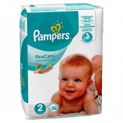Pampers nr 2 Pro Care 3-6 Kg x 36
