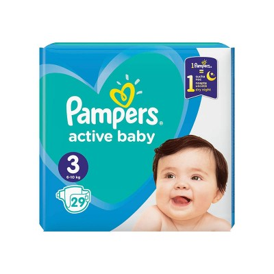 Pampers Nr. 3 Active Baby 6-10 kg Scutece x 29