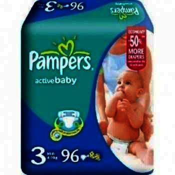 Pampers nr 3 Active Baby x 96