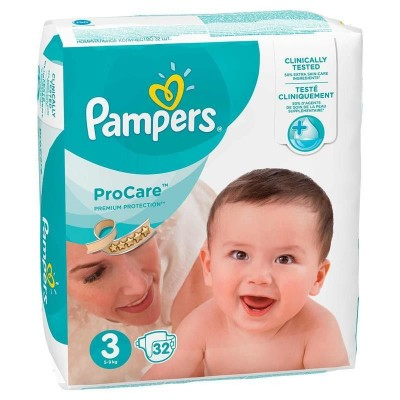 Pampers nr 3 Pro Care 5-9 kg x 32