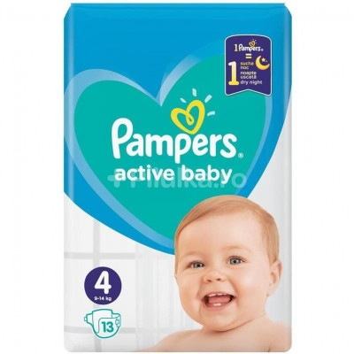 Pampers nr 4 Active Baby 9-14 kg x 13