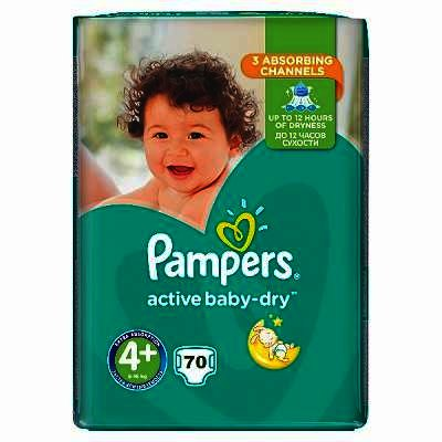 Pampers nr 4+ Active Baby 9-16 kg x 70