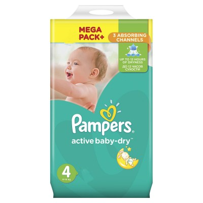 Pampers nr 4 Active Baby 8-14 kg x 132