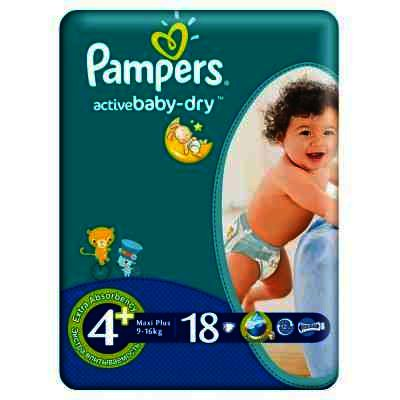 Pampers nr 4 Active Baby 9-16 kg x 18