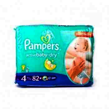 Pampers nr 4 Active Baby Maxi 7-18 kg x 82 buc