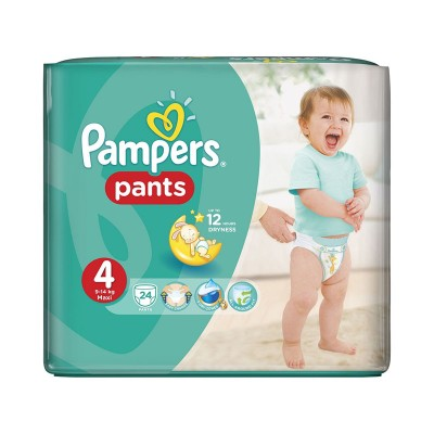 Pampers Nr. 4 Active Baby Pants 9-14 kg Scutece Chilotel x 24