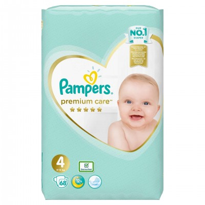 Pampers nr 4 Premium Care Maxi 9-14 kg x 68