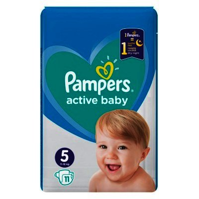 Pampers nr 5 Active Baby 11-18 kg x 11