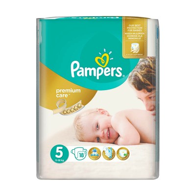 Pampers Nr. 5 Premium Care Active Baby 11-18 kg Scutece x 18