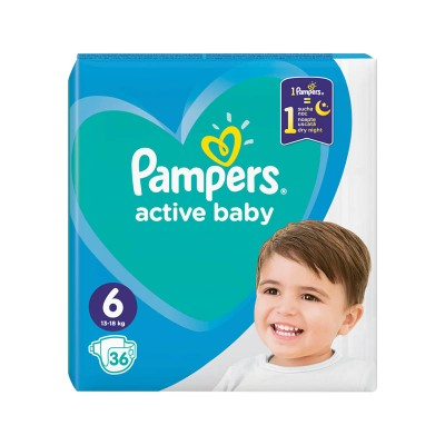 Pampers Nr. 6 Active Baby 13-18 kg Scutece x 36