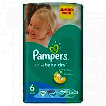Pampers nr 6 Active Baby Extra Large (+15 kg) x 54