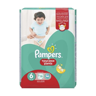 Pampers Nr. 6 Active Baby Pants 15+ kg Scutece Chilotel x 19