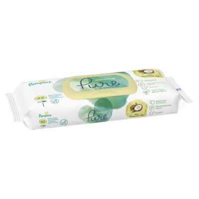 Pampers Coconut Pure Servetele Umede x 42