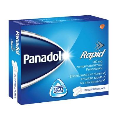 Panadol Rapid 500mg - comprimate filmate x 12 (W64146011)