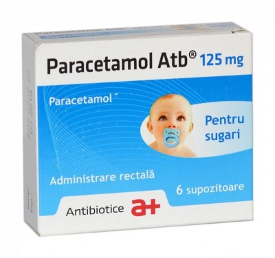 Paracetamol 125mg -supoz x 6 - Antibiotice (W55345002)
