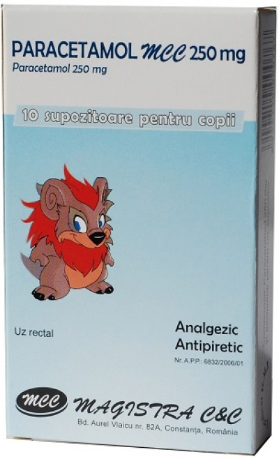 Paracetamol 250 mg -supoz x 10 - Magistra