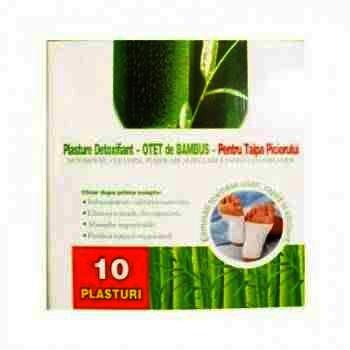 Plasture Detoxifiant cu Otet de Bambus pt Talpa Piciorului x 10