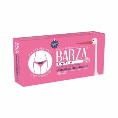 Plasturi Barza impotriva durerilor menstruale, 3 buc