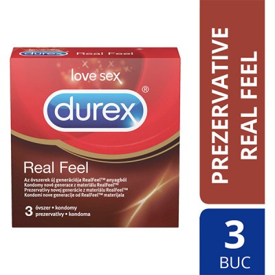 Prezervative Durex Real Feel 3 buc