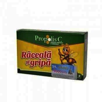 Propolis C Raceala si Gripa - plc. x 8 + Magnet -Fiterman