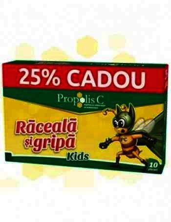 Propolis C Raceala si Gripa -plic x 8 + 2 (25% Cadou) (Oferta) - Fiterman