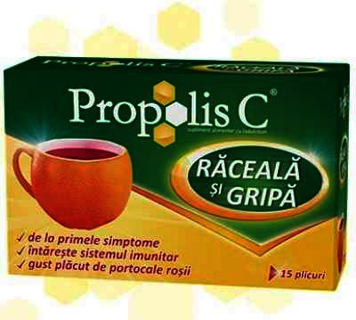 Propolis C Raceala si Gripa Portocale -plic x 15 - Fiterman