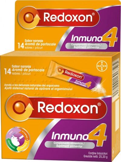 Redoxon Immuno 4, Vitamina C, Echinacea, Zinc si Propolis, 14 plicuri cu granule orodispersabile
