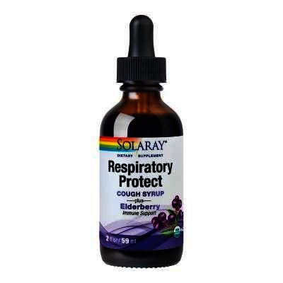 Respiratory Protect Cough Syrup, 59 ml, Solaray