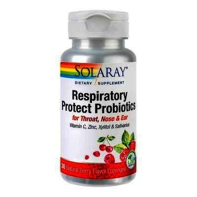 Respiratory Protect Probiotics, 30 comprimate pentru supt, Solaray