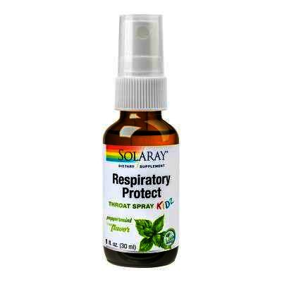 Respiratory Protect Throat Spray KIDZ, 30ml, Solaray