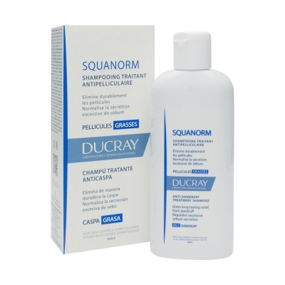 Sampon impotriva matreatii grase Ducray Squanorm, 200ml