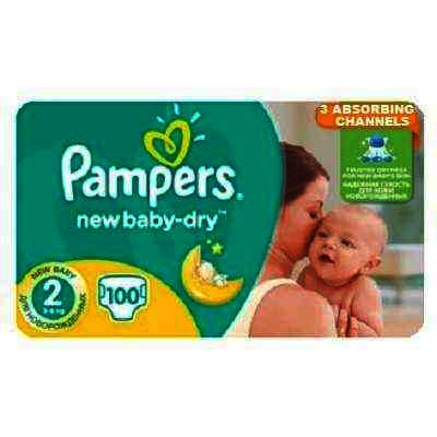Scutece Pampers nr 2 New Baby 3-6 kg x 100