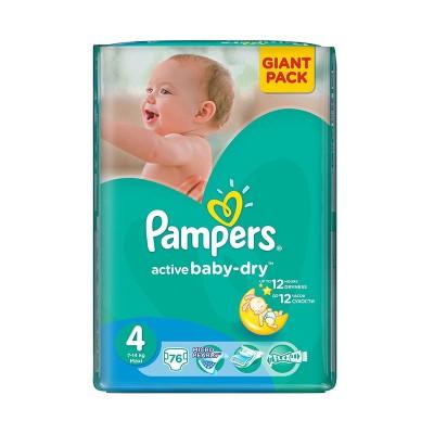 Scutece Pampers Nr. 4 Active Baby, 7-14 kg, Scutece x 76