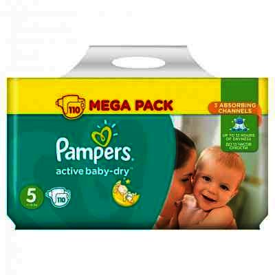 Scutece Pampers nr 5 Active Baby 11-18 kg x 110