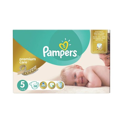 Pampers Nr. 5 Premium Care 11-18 kg Scutece x 88