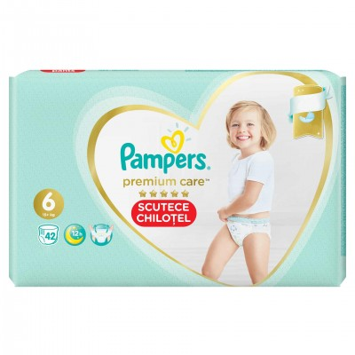 Scutece Pampers Premium Care nr. 6, 15+ kg, 42 buc